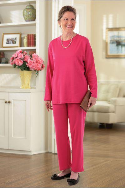 Long Sleeve Basic Knit Set