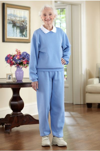 Women's Large Size Basic Sweatsuit with Collar (3X)