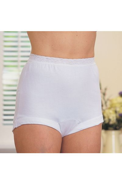 Cotton Panty With Stretch Lace Waistband (No Size 7 or 10)