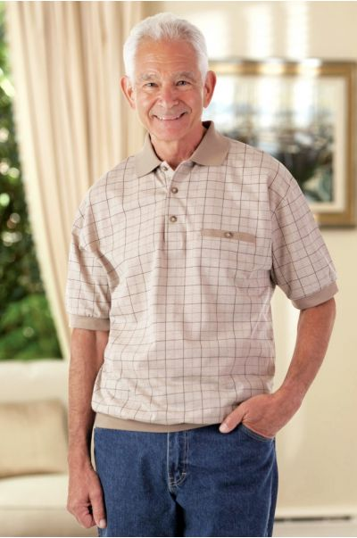 Men's Short Sleeve Banded Polo Shirt