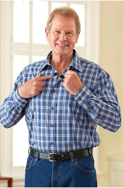 Long Sleeve Sport Shirt w/ VELCRO® Brand fasteners