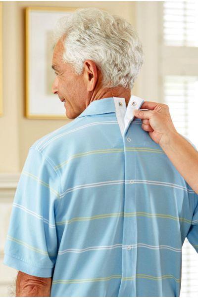 Short Sleeve Snap Back Polo Shirt