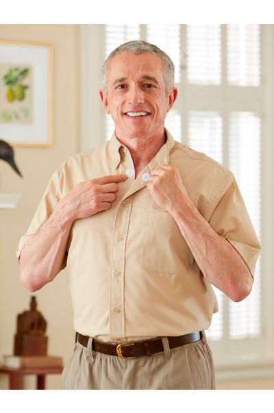 Short Sleeve Stain Resistant Shirt w/ VELCRO® Brand Fasteners