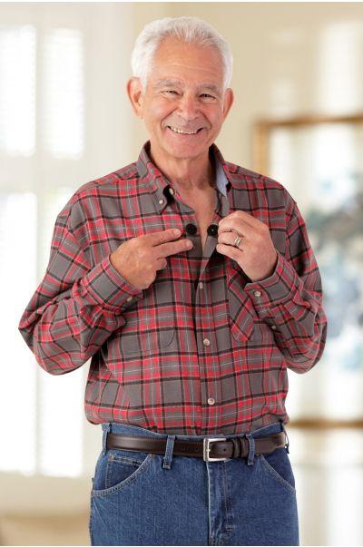 Two Pocket Flannel Shirt w/ VELCRO® Brand Fasteners