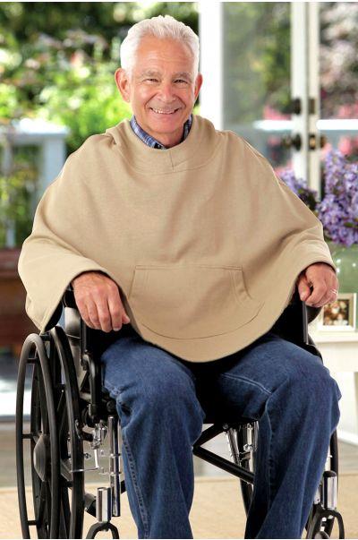 Hooded Sweat Fleece Poncho