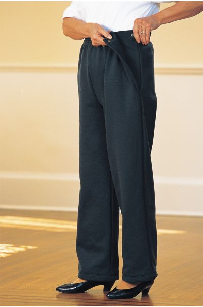 Women's Fleece Side Snap Pants