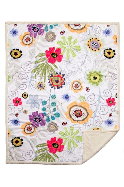 Wildflowers Sherpa Throw