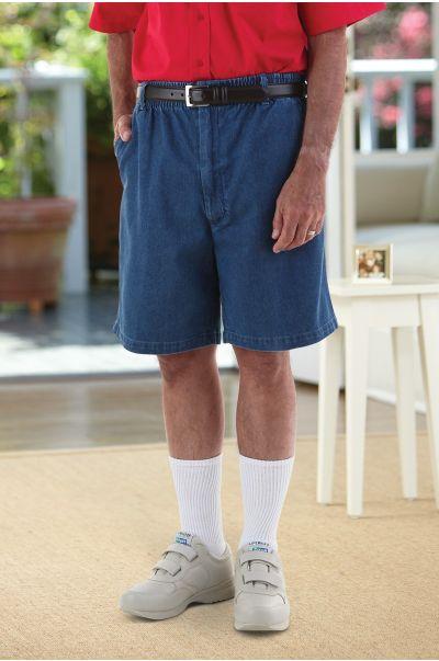 Men's Elastic Waist VELCRO® Brand fastener Fly Shorts