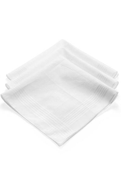 3-Pack of White Handkerchiefs