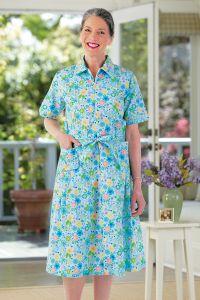 Short Sleeve Cotton/Poly House Dress