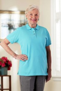 Women's Polo Shirt with Snap-Back Alteration (S-XL)