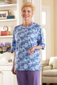 Short Sleeve Printed Knit Top