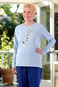Women's Long Sleeve Printed Snap-Back T-Shirt
