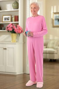 Long Solid Back-Zip Sleep Suit
