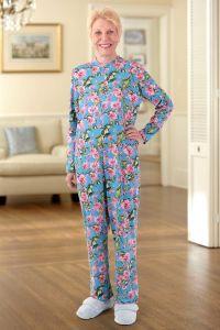 Long Printed Back-Zip Sleep Suit
