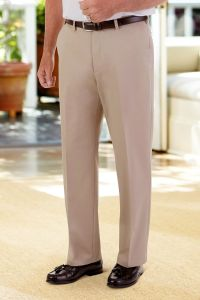 Cotton Slacks with VELCRO® Brand fasteners Fly