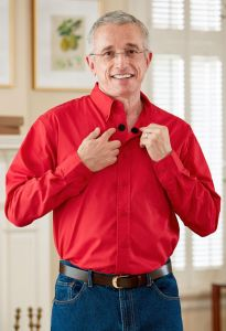 Long Sleeve Stain Resistant Shirt w/ VELCRO® Brand Fasteners
