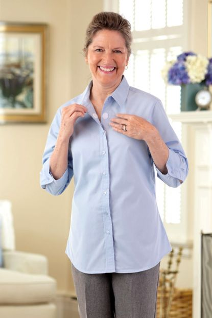 3/4 Sleeve Shirt w/ VELCRO® Brand Fasteners