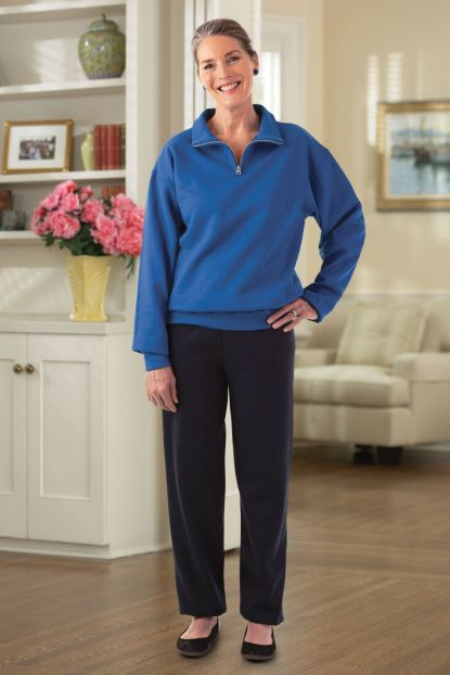 Quarter Zip Sweat Set w/ Black Pants
