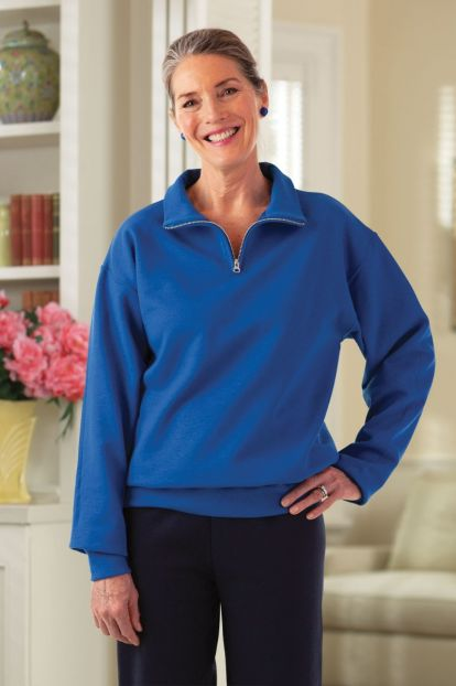Quarter Zip Sweat Top