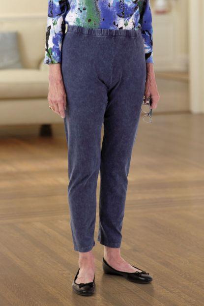 Cotton Slub Crop Legging Pants