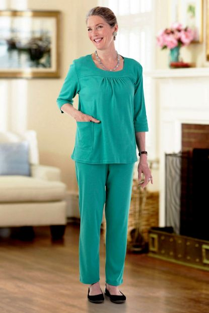 Square Neck Wrap Back Pant Set