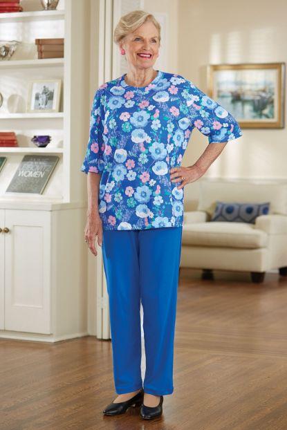 Short Sleeve Mixed Adaptive Knit Set