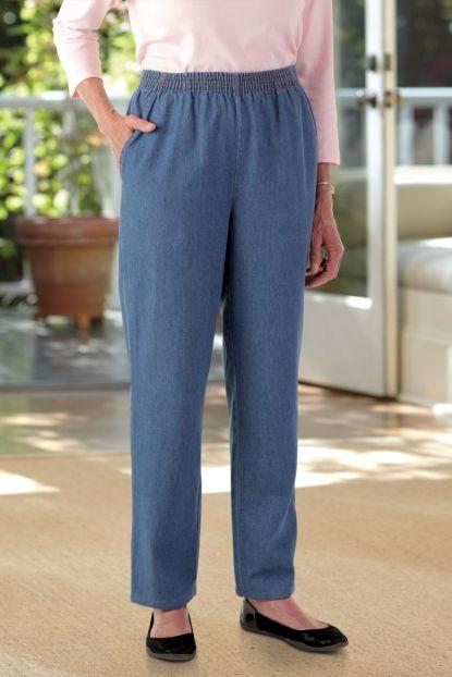 Women's Denim Pull-on Pants