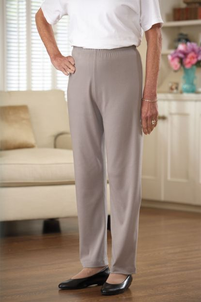 Cotton/Poly Knit Pants (S-2X)