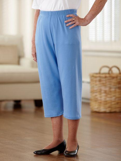 Cotton/Poly Knit Capri Pants