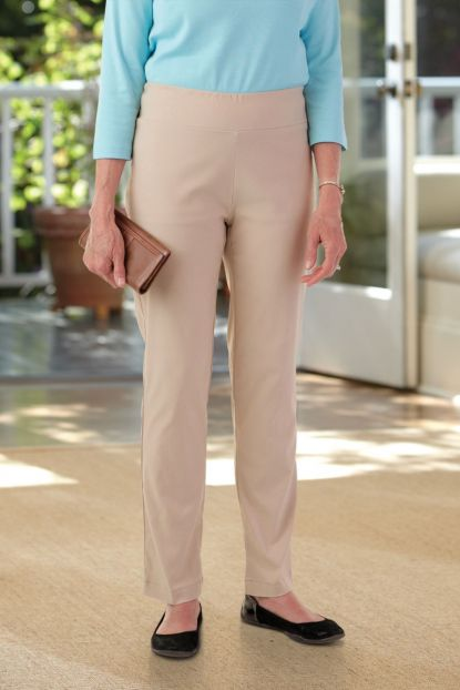 Flat Waistband Stretch Pant