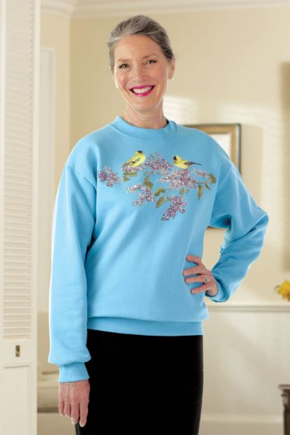 Women's Printed Sweat Top
