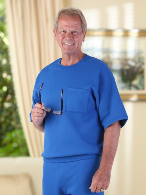 Short Sleeve Sweatshirt with Pocket