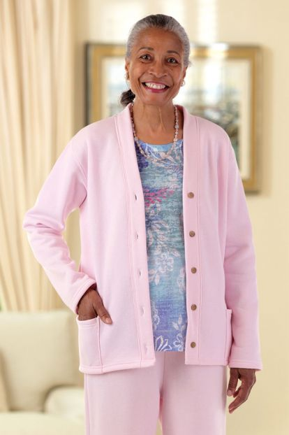 V-Neck Fleece Cardigan