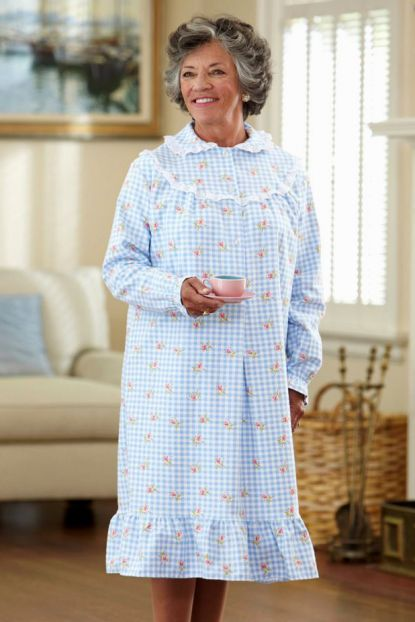 Short Flannel Gown