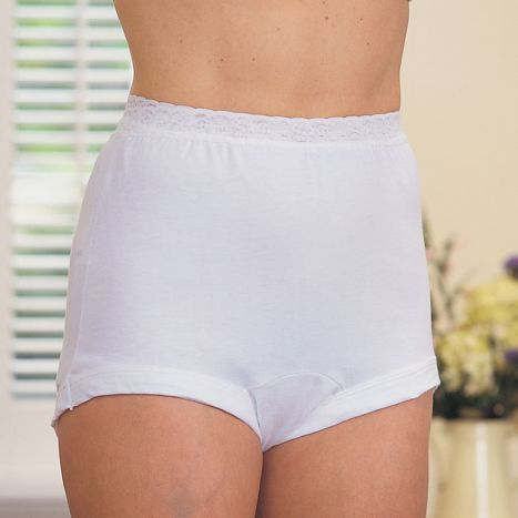 Cotton Panty With Stretch Lace Waistband (No Size 7)