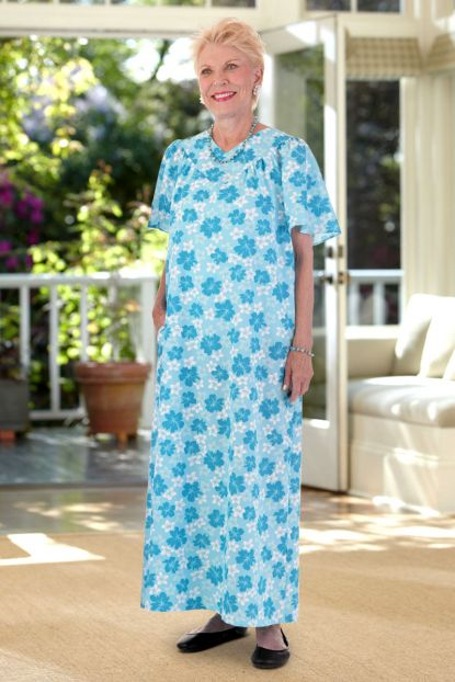 Long Wrap Back Hawaiian Muu Muu (S & M only)