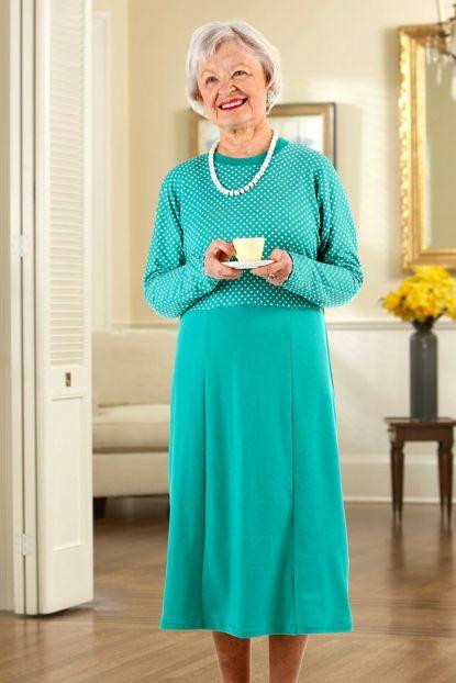 Polka-Dot Snap Back Knit Dress (S only)