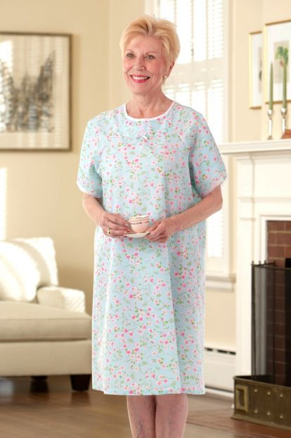 Budget Cotton/Poly Open Back Nightgown