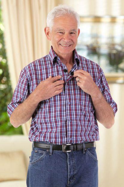 Short Sleeve Sport Shirt w/ VELCRO® Brand Fasteners