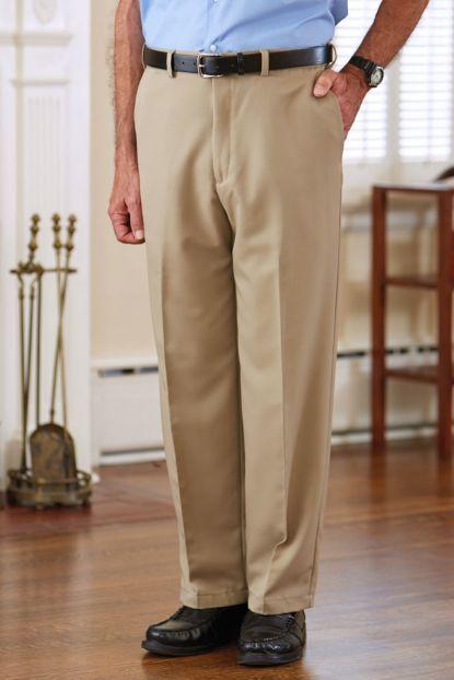 Men's Polyester Dress Slacks VELCRO® Brand fasteners Fly