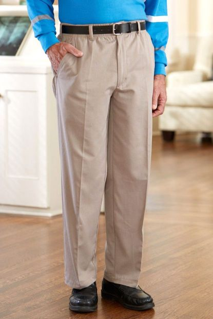 Twill Putter Pants (2X-4X) with VELCRO® Brand Fastener Fly