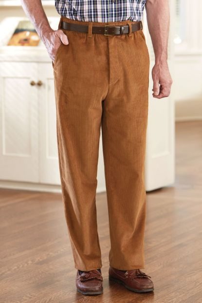 Corduroy Putter Pants with VELCRO® Brand fastener fly (40% Off!)