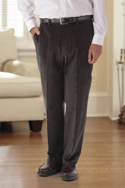 Corduroy Slacks with VELCRO® Brand fasteners Fly