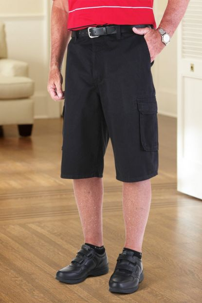 Twill Cargo Shorts with Zipper Fly