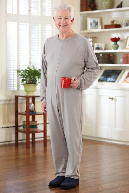 Men's Back-Zip Sleeper Suit