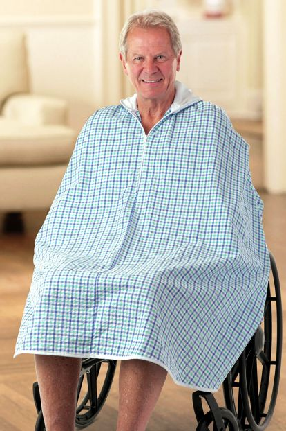 Men's Seersucker Shower Robe