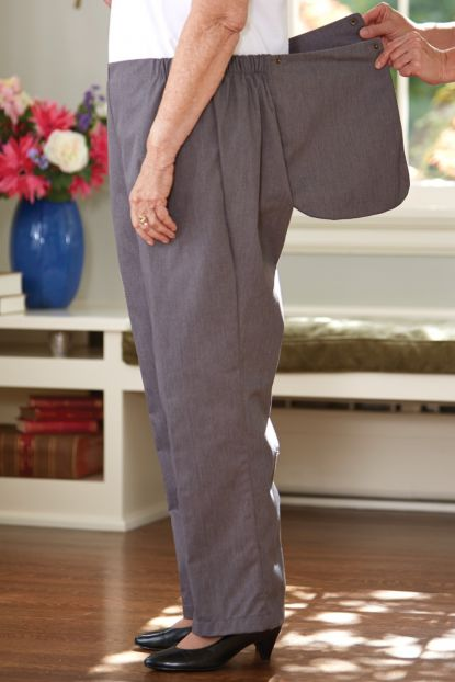 Women's Twill Back-Flap Pants