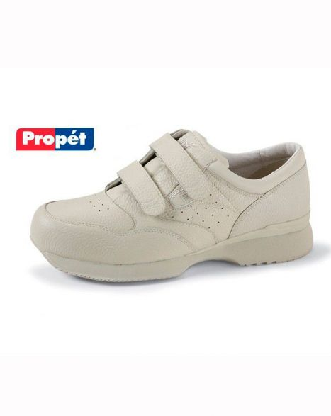 Men's Leather Hook and Loop Closure Shoe by Propet