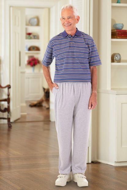 Men's S.S. Polo Jumpsuit w/ Lt. Weight Knit Pants